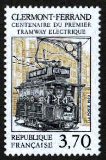 timbre premier tramway electrique clermont ferrand. Black Bedroom Furniture Sets. Home Design Ideas